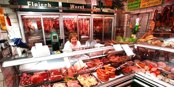 Oostenrijk vleeswaren afdeling