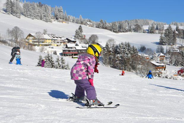 Kind op ski's