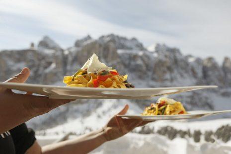heerlijk eten - Wintersport in de Dolomieten