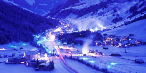 Het Oostenrijkse skidorp Gerlos