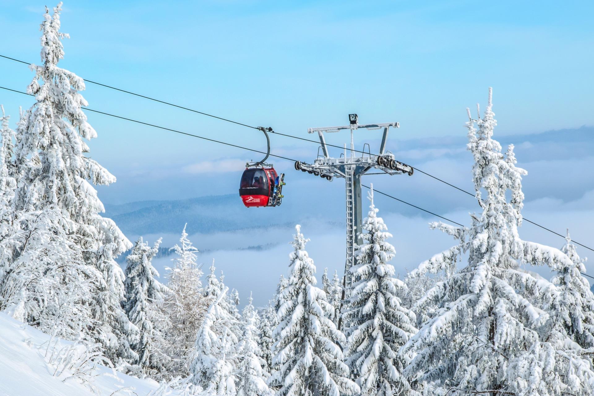 Prachtige uitzichten tijdens de wintersport