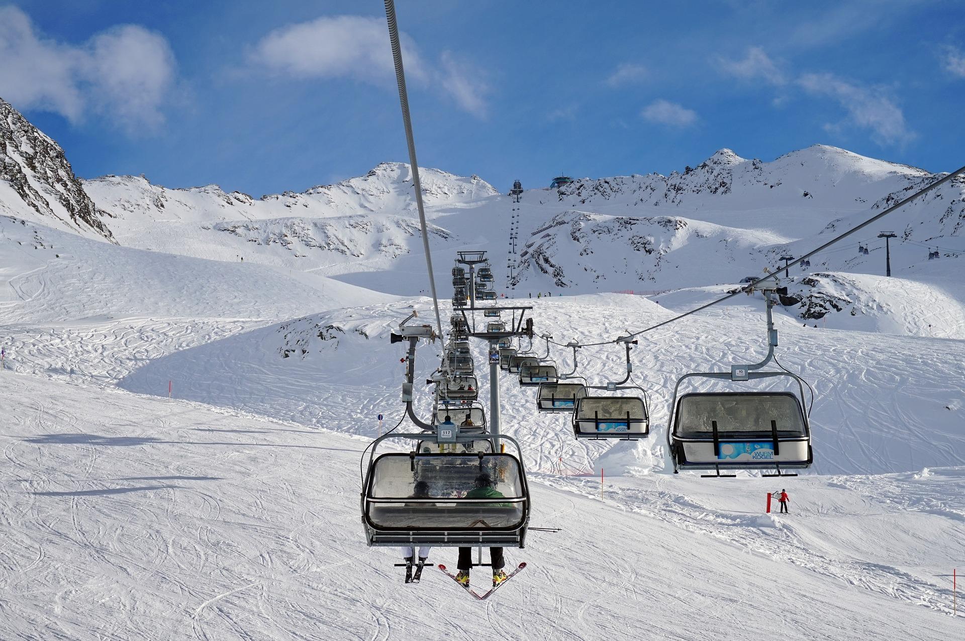 Met de stoeltjeslift de berg op