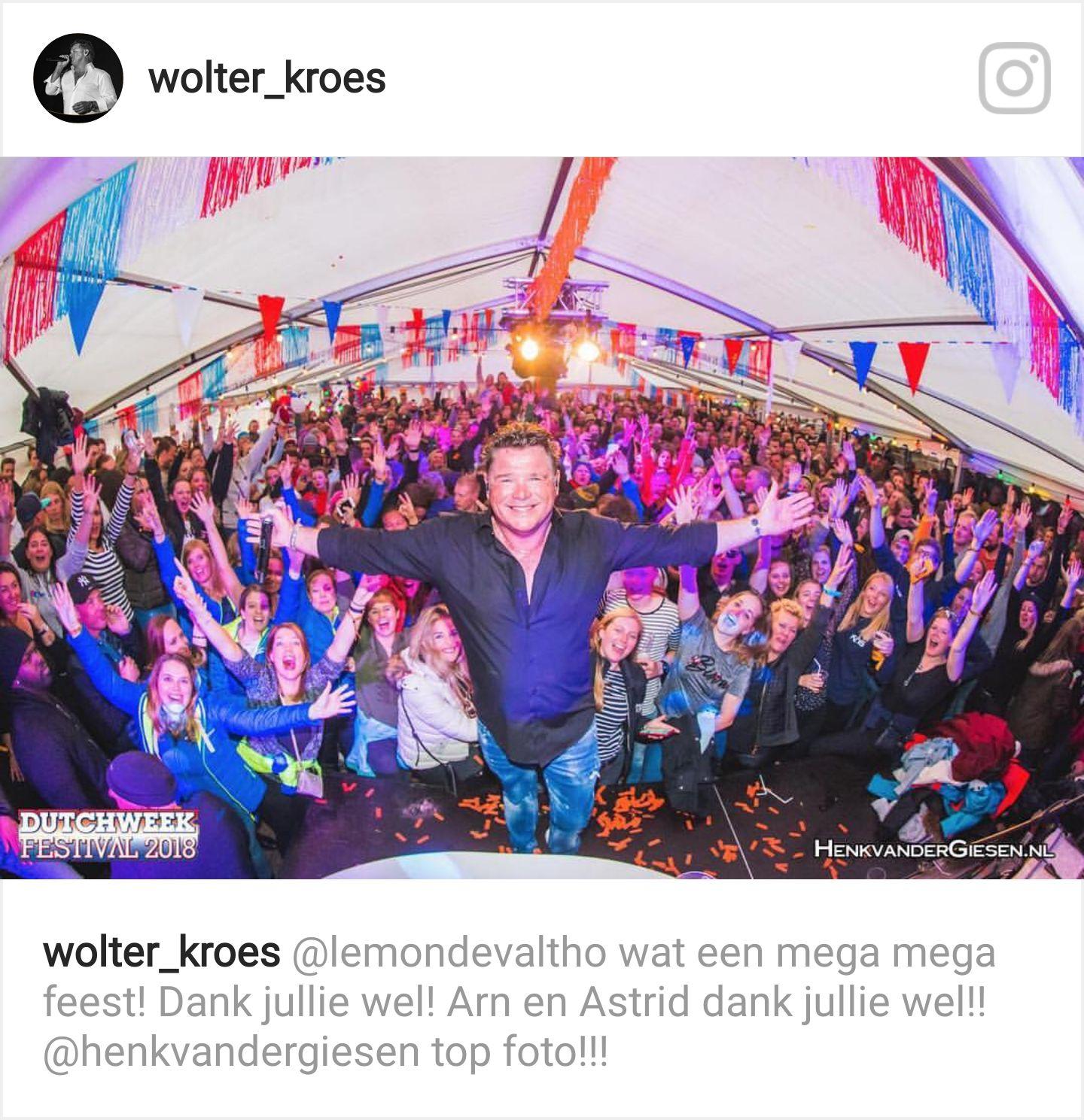 Feesten met Wolter Kroes!