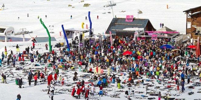 Feest op de piste tijdens Dutchweek Val Thorens