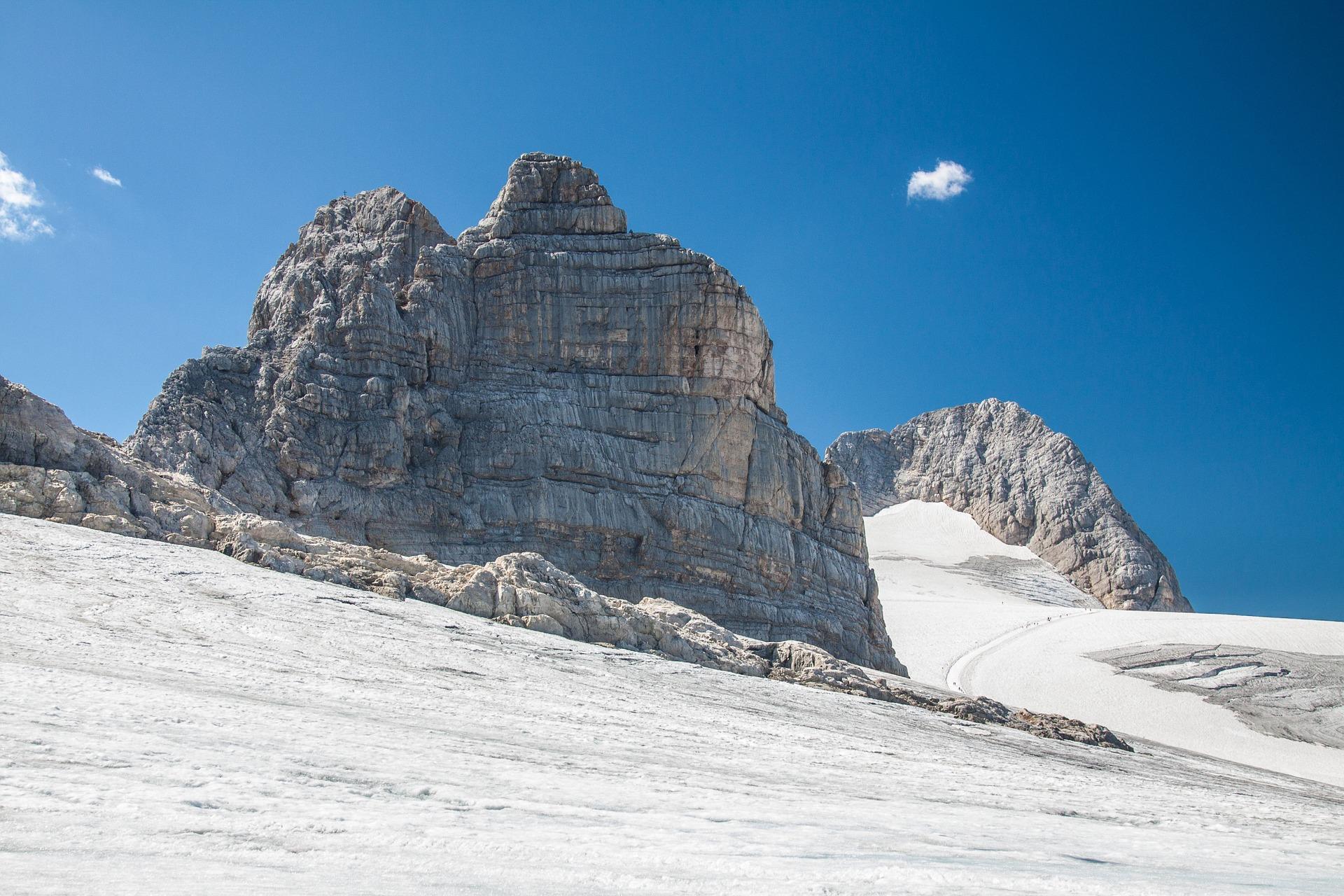 De Dachstein gletsjer in het zonnetje
