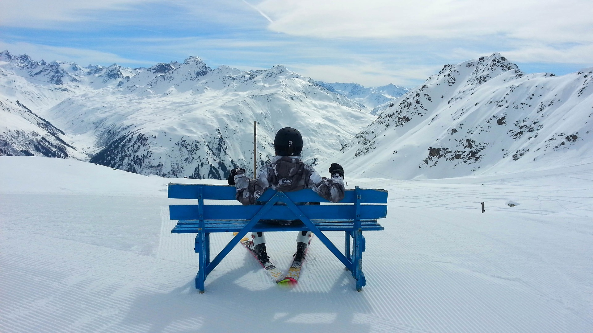 Prachtig uitzicht over de bergen bij Davos
