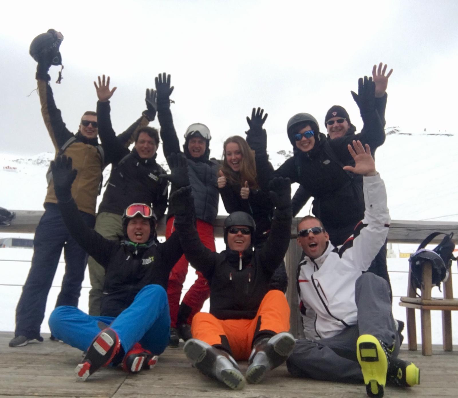 Deze groepsfoto in de sneeuw hebben we ontvangen van Joost-IT