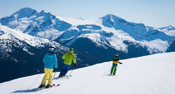 Skilessen uitzicht berg