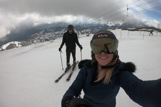 Op de gletsjer in Tignes