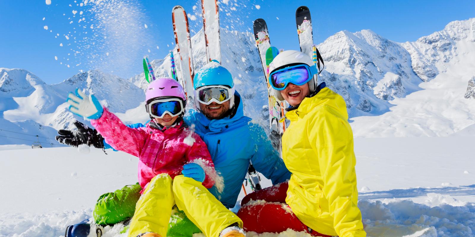 wintersport met het gezin