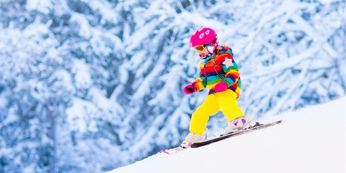 Op wintersport in Neukirchen als 10-jarig meisje
